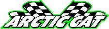 Arctic cat racing flags snowmobile vinyl sticker decal 22""