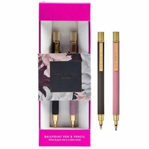 Ted Baker Dusky Pink & Grey Ballpoint Pen & Pencil Set