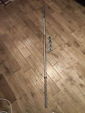 """5ft 10 Solid Steel Spinlock Barbell Weightlifting Bar (1"""" standard free weights)"""