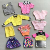 BARBIE Doll GENUINE Clothing Skirt Blouse LOT 10 Items 1990s MATTEL Clothes Toy