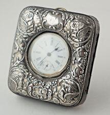 with Silber-Taschenuhr 2 13/16x3 1/8in Antique Pocket Watch Stand 925 Silver