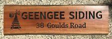Personalised Ironbark Hardwood Slab Rustic Timber Sign 900mm Long