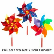 Classic Wind Powered Extendo Pinwheel with Technicolour Spin 3 Assorted Designs