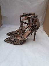 Topshop Snakeskin Stiletto Heel Shoes - Size: UK 5/EU 38 - RRP £50