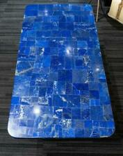 """36""""x24"""" black marble table top blue lapis malachite coffee center inlay fancy"""