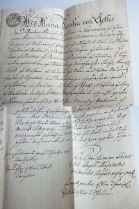 Lehnbrief Maria Theresia Vienna 1761 For Oberhofmeister Karl Josef Batthyàny