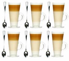 Set 6er Latte Macchiato Gläser 250ml und 6 Löffel Kaffeegläser Teegläser  HIT