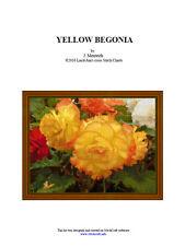 YELLOW BEGONIA - cross stitch chart