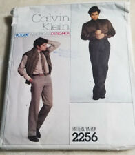 Vogue 2256 Mens Tapered Pants  Sewing Pattern Calvin Klein Size 34