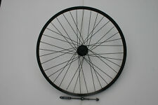 26in BLACK ALLOY MOUNTAIN BIKE REAR QR DISC BRAKE WHEEL FOR SCREW ON FREEWHEEL