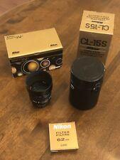 Mint Nikon Nikkor 85mm F/1.8 AF Lens, HN-23 Lens Hood, L37C Filter & CL-15S Case