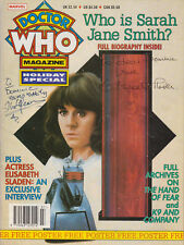 SIGNED BY ELISABETH SLADEN: Rare Doctor Who Magazine Holiday Special 1992