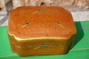 Vtg.Bluebird Jaybird Jewelry Trinket Case Box Vanity Lady Bracelet Jewels Tole