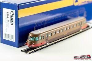 Os.kar 2016 - H0 1:87 - Railcar Diesel FS Aln 772.3237 Brun Isabella À Tr