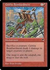 GOBLIN BOMBARDMENT Tempest MTG Red Enchantment Unc