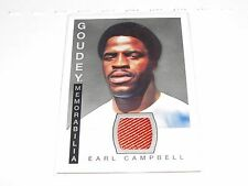 2015 Goodwin Champions EARL CAMPBELL Goudey Worn Jersey Houston OILERS Texas