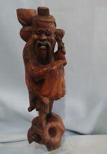Wooden Asian Man Carving