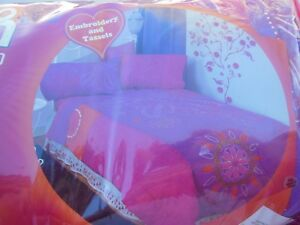 Disney That's So Raven Embellished Comforter Purple Pink Embroidery Tassels Twin