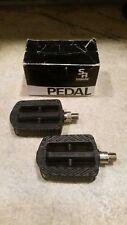 """Vintage NOS SR SP-602 Pedals 1/2"""" Japan Kids Youth Pit Bike Sakae Ringyo Black"""
