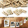 36 x MINI WOODEN PEGS CHRISTMAS CARD PEG HOLDER HANGER 2M STRING PHOTO WEDDING