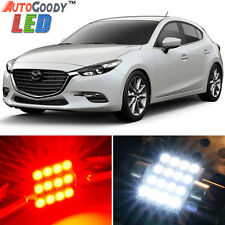 8 x Premium Red LED Lights Interior Package Kit for 2010-2017 Mazda 3