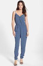 Laundry By Shelli Segal Print Crepe de Chine Jumpsuit (Size 4) Blue