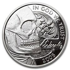 2016 1 oz Jefferson Skull Silver Round Hobo Nickel Series with COA