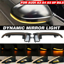 For Audi A3 S3 8P A4 S4 B8 A5 Dynamic Blinker LED Turn Signal Light Mirror  ! 3