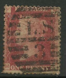 GB QUEEN VICTORIA 1d RED Penny USED (No.4)