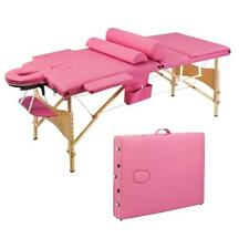 "Best Massage Portable Table Spa Bed 73"" Long Portable 3 Folding W/ Carry Case Us"