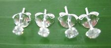 2 PAIRS 925 STERLING SILVER 2mm & 3mm ROUND CZ STUDS earring TEEN BOY GIRL WOMEN