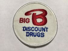 Big B Discount Drugs Birmingham Alabama AL Vintage Bruno's Drug Store Patch F