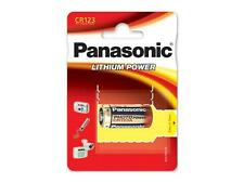 2 x cr123a Panasonic Lithium Power batería 1450mah 3v