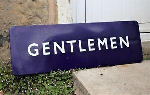 BRITISH RAILWAY ORIGINAL 'GENTLEMAN' ENAMEL SIGN