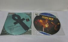 """Vintage Vinyl 12"""" Picture Singles x 2 by SKIN 'Look But Don't Touch' & 'Money'"""