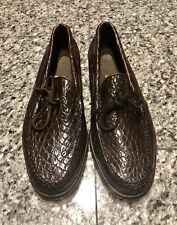 Cole Haan Brown Crocodile Men's Loafers Shoes