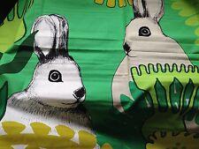 SALE Marimekko Puput Piilosilla fabric panel for wall art, Finland rabbit bunny