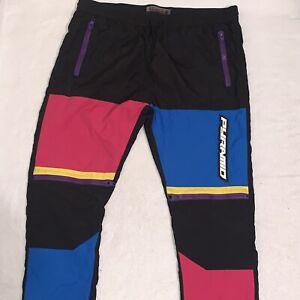 Black Pyramid Tech Track Joggers Pants Black Pink Blue Purple Mens Size XXL