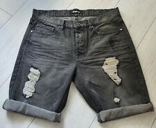 Tigha Herren Jeans Sommer Shorts Vintage Black Size 32