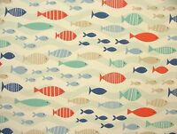 Coastal Nautical Seaside Cotton Fabric Curtain Upholstery Craft Quilting Blinds