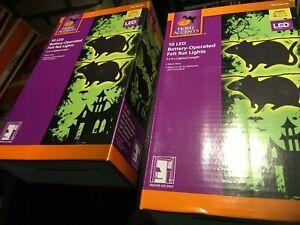 2 SETS Halloween 10  Lights String Felt Rat Lights LED Battery