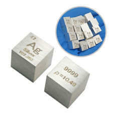 10mm Metal Silver Cube 99.99% Pure Ag Density Cube Specimen Element Collection