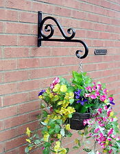 HANGING BASKET BRACKET HAND FORGED HEAVY DUTY 16ins