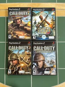 Lot of 4 Playstation 2 PS2 Replacement Cases Call of Duty Medal of Honor NEW