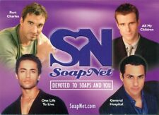 PROMO POSTCARD - SOAP NET - GENERAL HOSPITAL- ONE LIFE TO LIVE- ALL MY CHILDREN