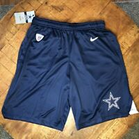 Nike Training Shorts Football Dallas Cowboys NFL Blue 836599-419 Mens Size Small