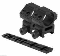"""For Ruger 10/22 Mounting Kit - 1"""" Rings Heavy Duty Medium & 10/22 Scope Mount"""