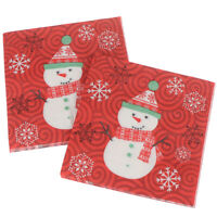 20pcs/Set Snowman Printing Napkins Xmas Napkins Christmas Napkins Party de JC RK