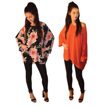 Womens Ladies Floral Printed Oversized Batwing Kaftan Kimono Top 8-20