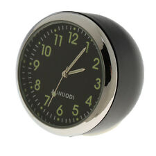 Fluorescent Black Car Dashboard Analog Time Clock Quartz Watch Pointer